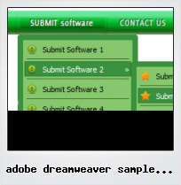 Adobe Dreamweaver Sample Buttons