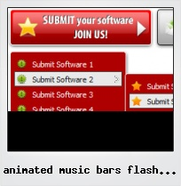 Animated Music Bars Flash Button