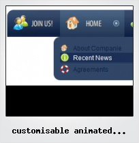 Customisable Animated Flash Buttons