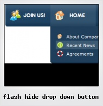 Flash Hide Drop Down Button