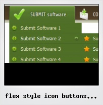Flex Style Icon Buttons In Buttonbar