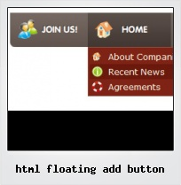 Html Floating Add Button