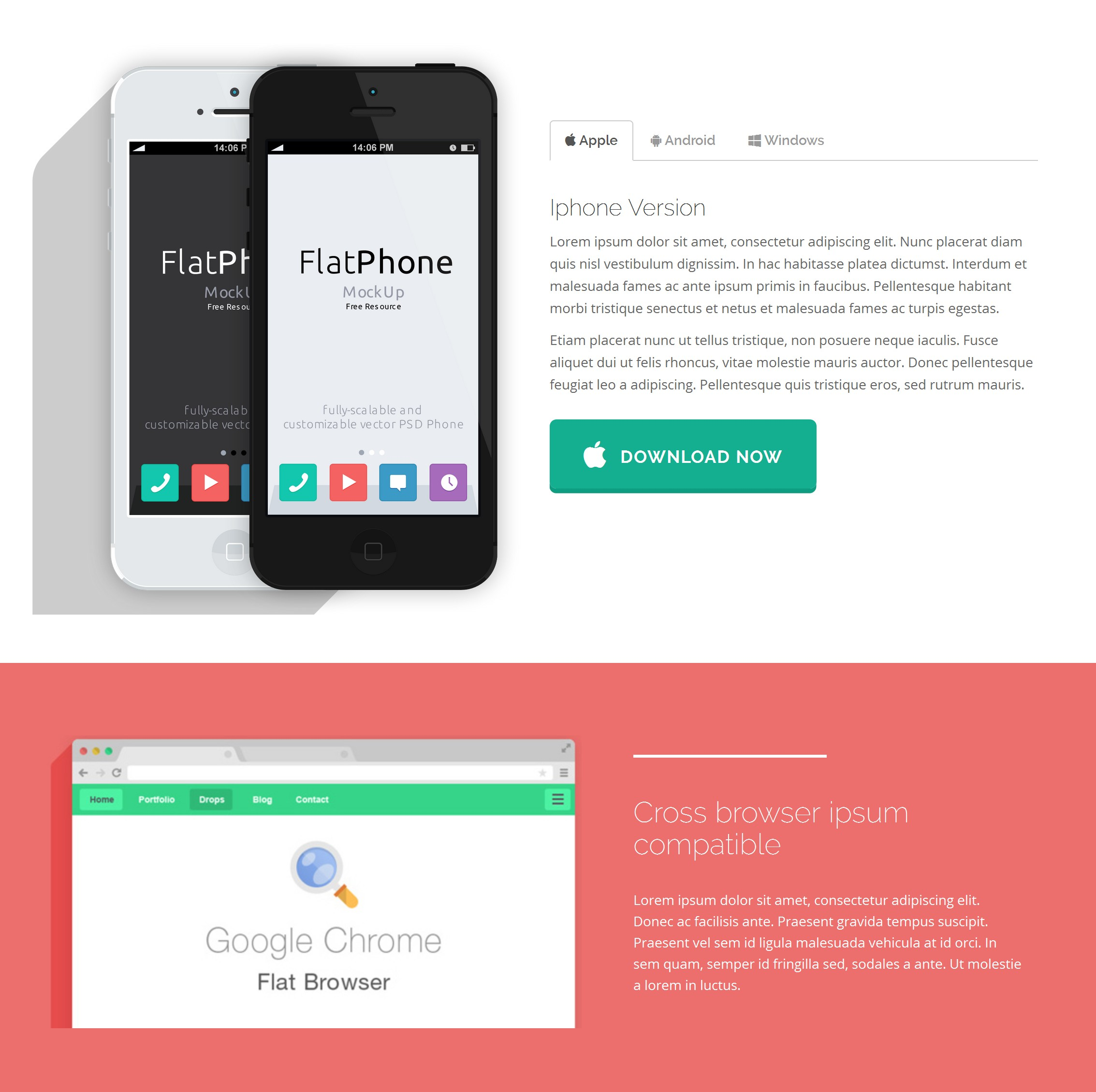 HTML5 Bootstrap Simple Theme