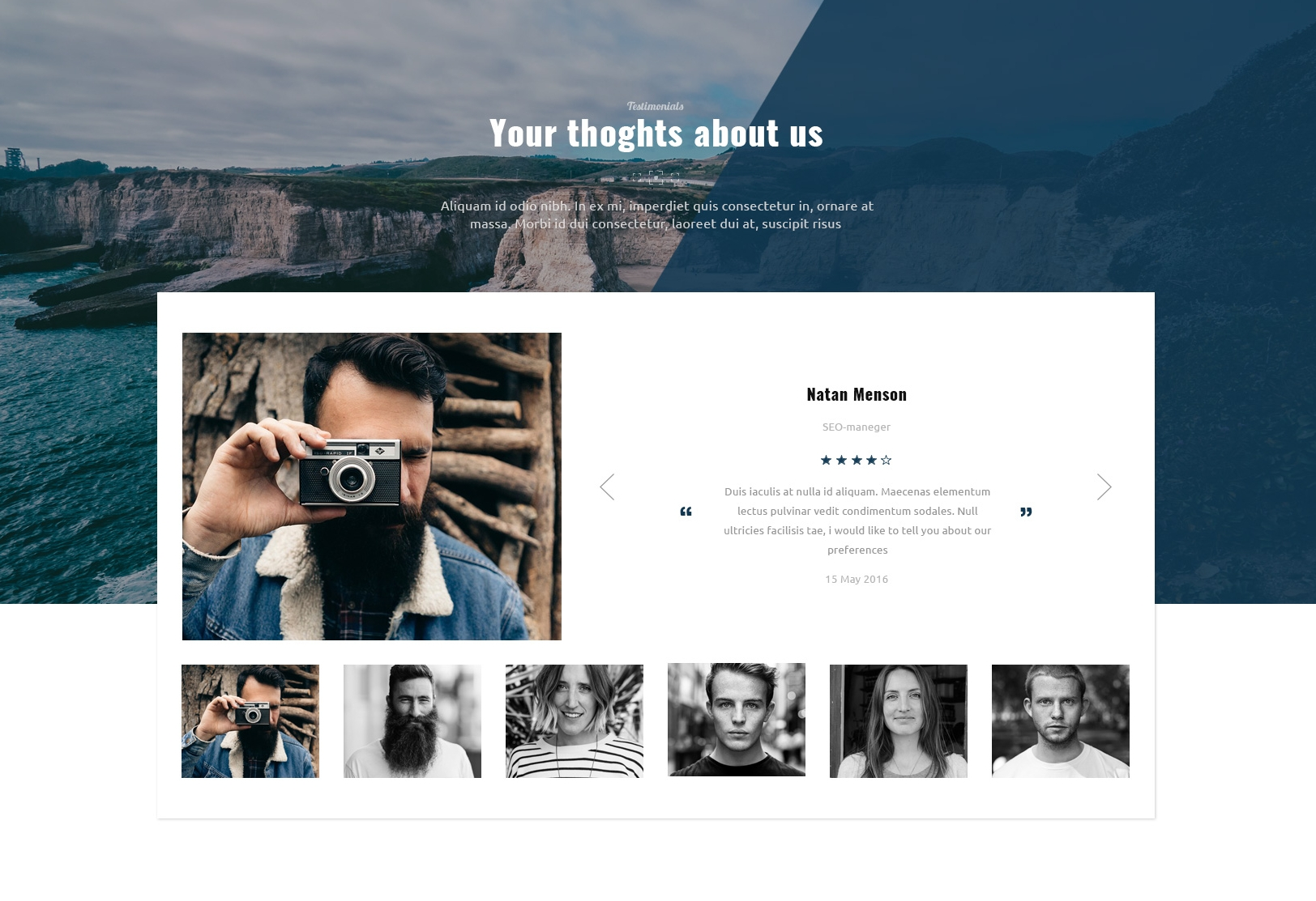 Mobile Bootstrap Image Gallery Theme